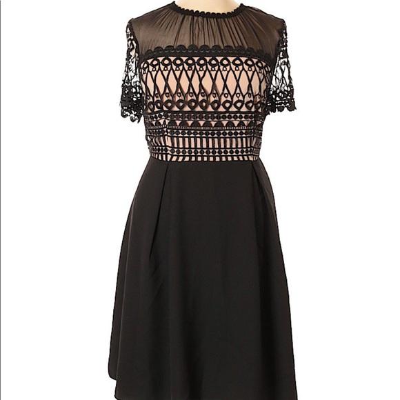59f9a1e7763 ELOQUII illusion neckline dress black Never worn